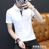 2019短袖t恤 男夏季大碼男裝有領純色修身翻領男士polo衫半袖衣服