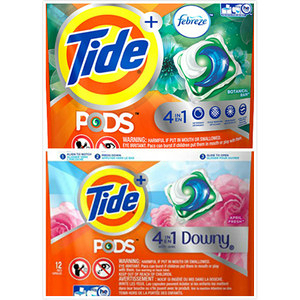 美國Tide洗衣凝膠球四合一(353g/12粒)*6包/箱加贈12粒/