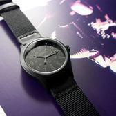 TIMEX 天美時 / TXTW4B14200 / 美國品牌 INDIGLO專利冷光照明 24小時顯示 日期視窗 帆布手錶 黑色 40mm