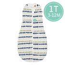 ergoPouch ergoCocoon 二合一竹纖有機舒眠包巾1T(春.秋款)(3-12M) 懶人包巾-藍灰點