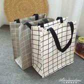 大號帆布防水飯盒袋便當包A4美術包補課包手提袋  黛尼時尚精品