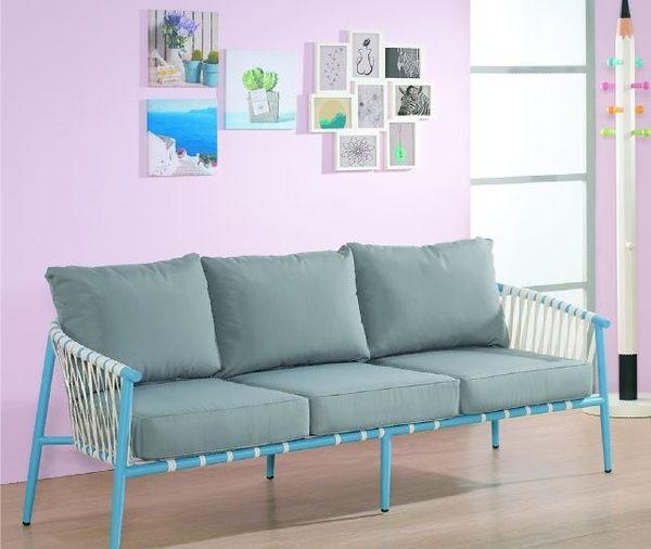 【南洋風休閒傢俱】沙發系列-渡假風三人位沙發  戶外沙發 鐵藝沙發 JX147-1