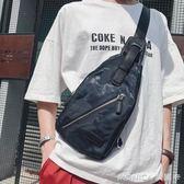 迷彩胸包 男士胸前包時尚簡約小包 青年韓版單肩包後背包潮包 莫妮卡小屋