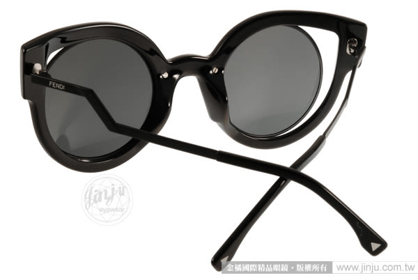 FENDI 太陽眼鏡 FS0137S NT2CN (黑) 歐美熱銷時尚貓眼水銀鏡面款 # 金橘眼鏡