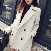 毛呢大衣韓版新款女裝中長款韓國冬季反季呢子大衣春秋毛呢外套女學生  嬌糖小屋
