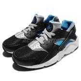 Nike 武士鞋 Huarache Run GS 黑 藍 白底 運動鞋 休閒鞋 女鞋 大童鞋【PUMP306】 654275-013