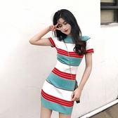 法式桔梗裙仙女超仙森系裙子女夏季新款收腰氣質連身裙