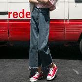 大碼寬褲 闊腿褲女秋冬加絨新款韓版原宿風學生bf百搭寬鬆直筒褲潮 qf14020『小美日記』