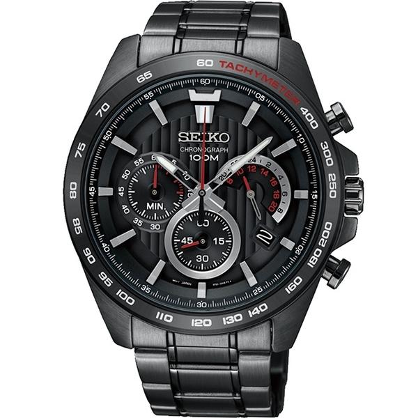 SEIKO 精工 CS系列競速計時腕錶(SSB311P1) 8T63-00G0SD