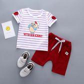 夏裝套裝0一1-2-3歲男童女童寶寶兩件套嬰幼兒童寶寶套裝  店慶一周 限時八折鉅惠