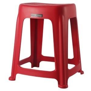 【好市吉居家生活】嚴選聯府KEYWAY~RC668-2 花園47CM止滑椅(紅) 塑膠椅