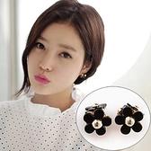 【NiNi Me】夾式耳環 甜美可愛立體三朵小花夾式耳環 夾式耳環 E0052