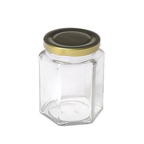【我們網路購物商城】RP30 六角瓶-大 玻璃罐 果醬瓶 沙拉瓶