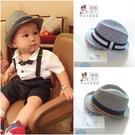 紳士帽 帥氣嬰兒寶寶男孩帽子男童草帽爵士禮帽太陽帽遮陽帽兒童草帽春夏 星河光年