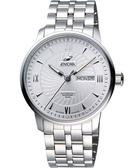 ENICAR 光輝時刻經典機械腕錶-銀 3168-50-351aA
