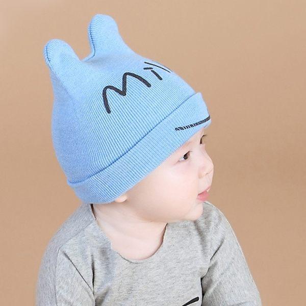 嬰兒帽子0-12個月新生兒帽子寶寶套頭胎帽1-2歲男女童帽純棉秋冬 至簡元素