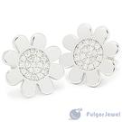 【Fulgor Jewel】925純銀耳環 密釘鑲太陽花