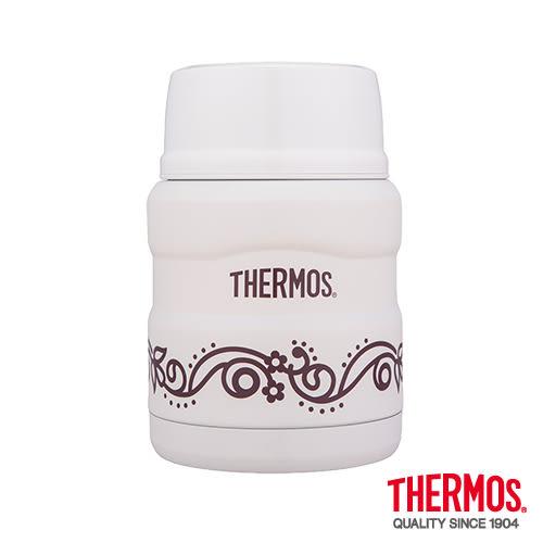 Thermos膳魔師 不鏽鋼真空保溫食物罐0.47L(香草歐蕾)