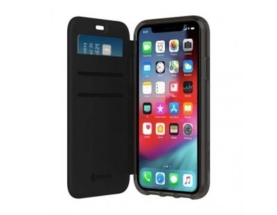 Griffin Survivor Clear Wallet for iPhone XR 黑色側翻透黑背蓋防摔皮套 強強滾