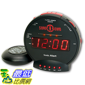 [美國直購] Sonic Alert SBB500ss Sonic Bomb Loud Dual Alarm Clock with Bed Shaker 鬧鐘