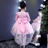 女童連身裙公主裙兒童加絨蓬蓬紗花童【奇趣小屋】