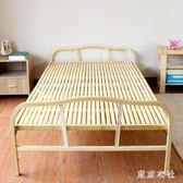 竹床折疊床單人床1米0.8米簡易床辦公室午休床家用小床竹板床 QQ25146『東京衣社』