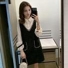 2020春秋冬季新款韓版長袖假兩件拼接Polo連衣裙寬松新《蓓娜衣都》