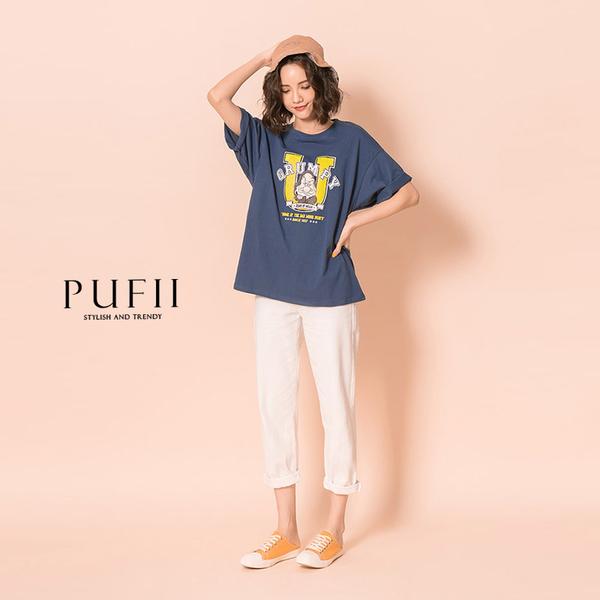 現貨◆PUFII-上衣 Anger撞色英字短袖上衣- 0528 夏【CP18613】