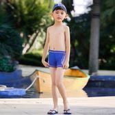 兒童泳衣男童中小大童泳褲男孩平角游泳褲快干可愛寶寶卡通游泳衣