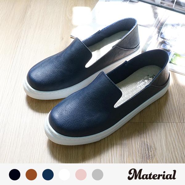 休閒鞋 簡約懶人鞋 真皮鞋墊 MA女鞋 T17011
