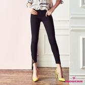 【SHOWCASE】蕾絲褲襬造型美腿顯瘦彈性貼腿褲(黑)