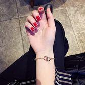 手鐲水晶手鏈女韓版簡約學生森系閨蜜個性手環百搭手飾新「輕時光」