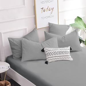 【Hilton 希爾頓】日本大和抗菌布透氣防水保潔枕套單入-六色任選淺灰