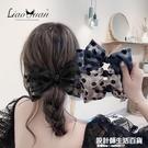 韓國紗波點發夾後腦勺甜美氣質頂夾大號蝴蝶結彈簧夾優雅夾子頭飾 設計師生活