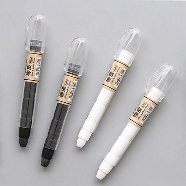 【BlueCat】黑白色筆造型橡皮擦