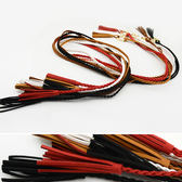 腰繩皮帶編織流蘇可拆卸金屬環釦腰繩腰帶~FJS5 5 ~icoca 10 12