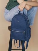 設計感簡約金屬城市包- 單寧牛仔 / NETTA城市輕盈秋冬色系 / 多口袋後背包