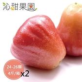 沁甜果園SSN.黑珍珠蓮霧(24-26顆,4斤/裝)(共二箱)﹍愛食網