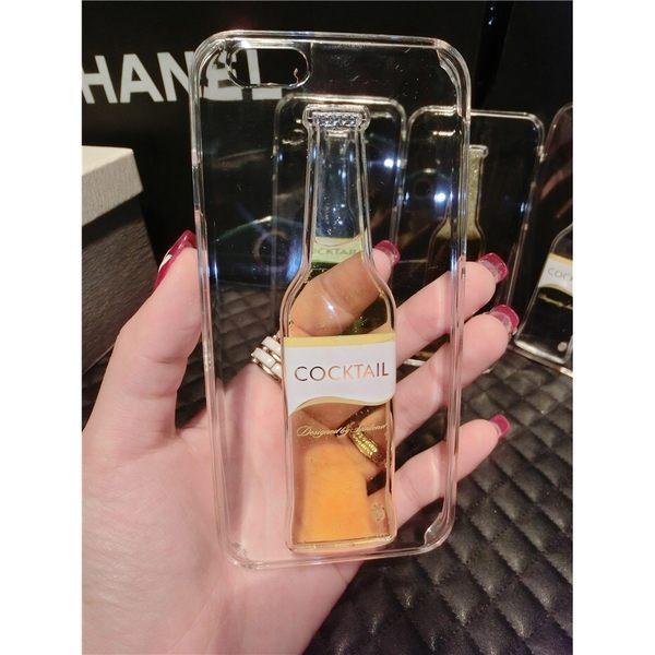 iPhone手機殼 雞尾酒紅酒瓶 流動液體 環保硬殼防摔 蘋果iPhone6/iPhone5手機殼