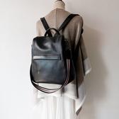 後背包-真皮-休閒防盜牛皮大容量女側背包2色73yi31【巴黎精品】