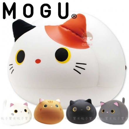 【日本MOGU】幸福Q胖貓 可愛抱枕/舒壓靠枕‧日本原裝進口✿桃子寶貝✿