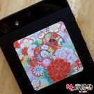 Mc賣禮物-MIT手機螢幕擦拭貼經典尺寸(1片)-和風3【W41003】