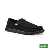 SANUK VAGABOND TRIPPER CHILL 內刷毛寬版帆布懶人鞋-男款 1095083 BBLC(黑色)