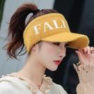 帽子女秋冬天韓版潮網紅毛絨保暖帽空頂棒球鴨舌帽針織帽毛線帽女 黛尼時尚精品