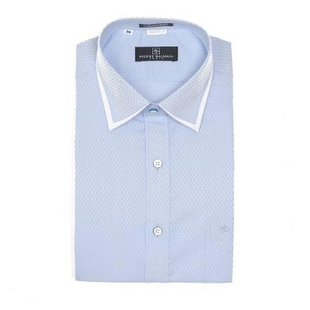 【南紡購物中心】【PIERRE BALMAIN 皮爾帕門】長袖襯衫-領口設計淺藍色(F1)