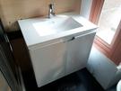 【麗室衛浴】 新款 D-130 71CM盆+不鏽鋼烤漆浴櫃 71*46*H61.5CM