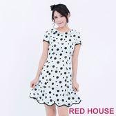 RED HOUSE-蕾赫斯-大小圓點波浪洋裝(共2色)