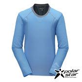 PolarStar 男 竹炭吸排長袖圓領衫『藍』P17211 台灣製造 機能衣│刷毛衣│保暖衣
