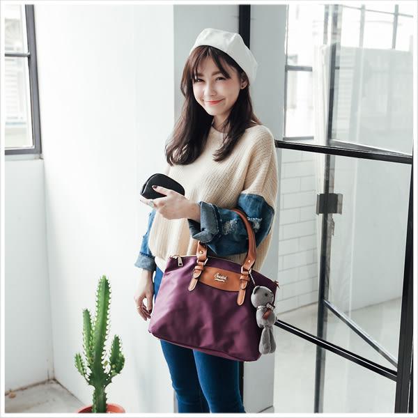 手提包-簡約實用防潑水尼龍側背/水餃包-共5色-A03030945-天藍小舖