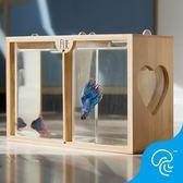 泰國生態懶人斗魚缸迷你小型創意辦公室迷你魚缸宿舍桌面小缸觀賞
